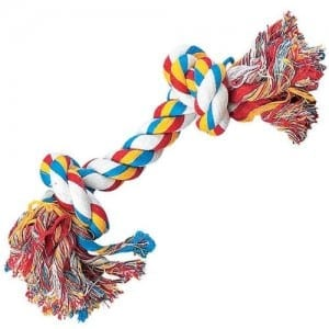 Zanies Cotton Knotted Rope Bone Dog Toy