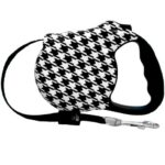 houndstooth retractable dog leash