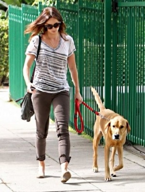 Emily Blunt and her lab Finn