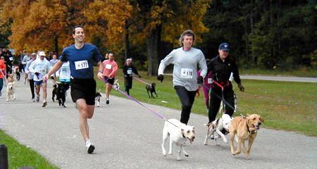 Running with Dogs - what a great way to multitask! Dogsized