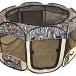 BestPet Folding Play Pen - Zebra Skin