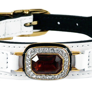 Hartman Rose Leather Dog Collar - Haute Couture Collection