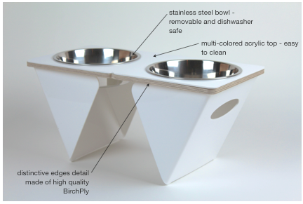 boxer tall dog bowl