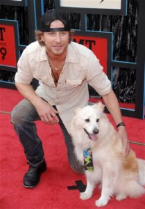 Dierks Bentley and his dog Jake Dogsized