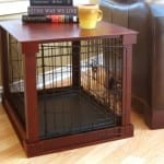 End Table with Dog Crate