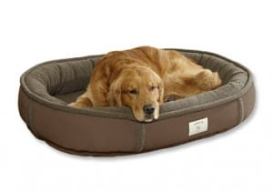 Orvis FleeceLock Wraparound Dog Beds with Memory Foam - chocolate