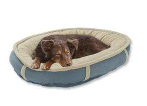 orvis wraparound dog beds - blue