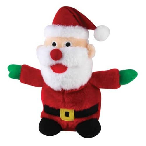 Zanies Plush Holiday Santa Dog Toy