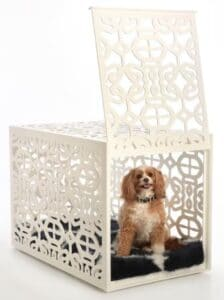 dog crate white
