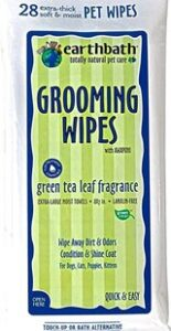 earthbath grooming wipes tea