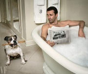 Jon Hamm & Bulldog friend